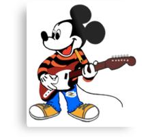 Rock Star Mickey Metal Print