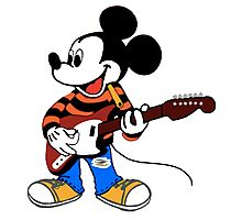 Rock Star Mickey Photographic Print