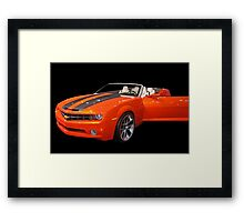 Orange Camaro II Framed Print
