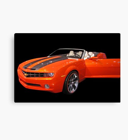 Orange Camaro II Canvas Print