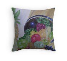Fruit Barrel Throw Pillow