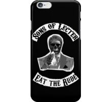Sons of Lecter - Eat the rude iPhone Case/Skin
