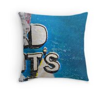 Ripped posters Throw Pillow