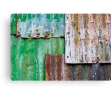 corrugated iron mozaic Canvas Print