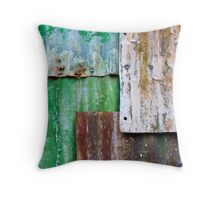 corrugated iron mozaic Throw Pillow