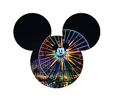 Fun Wheel Mickey Photographic Print
