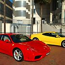 A Red & Yellow Ferrari by Gino Iori