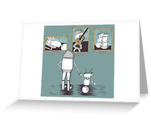 Robots like art too. Greeting Card