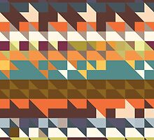Shapes in retro colors by lalylaura