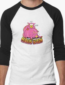 Makin' Bacon Men's Baseball ¾ T-Shirt