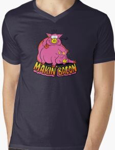 Makin' Bacon Mens V-Neck T-Shirt