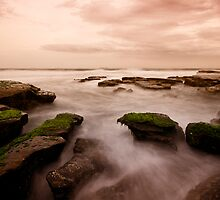 Bar Beach Rock Platform 7 by Mark Snelson