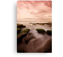 Bar Beach Rock Platform 7 Canvas Print