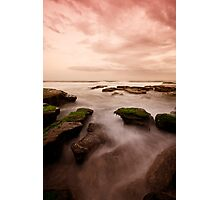 Bar Beach Rock Platform 7 Photographic Print