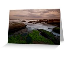 Bar Beach Rock Platform 8 Greeting Card