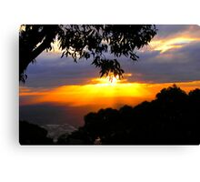 Sunset from Mt. Dandenong Observatory Canvas Print