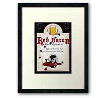 Red Baron Beer Garden Framed Print