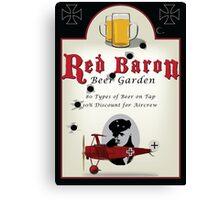 Red Baron Beer Garden Canvas Print