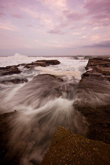Bar Beach Rock Platform 9 by Mark Snelson