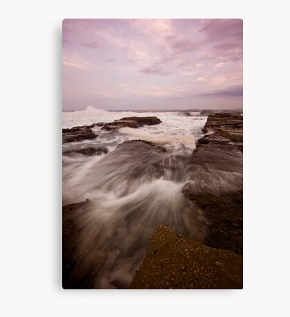 Bar Beach Rock Platform 9 Canvas Print