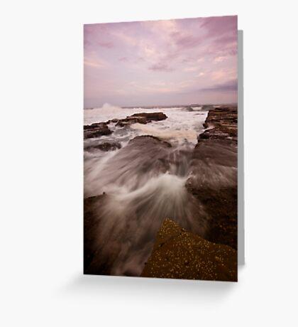 Bar Beach Rock Platform 9 Greeting Card