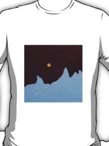 Full Yellow Moon in Night Sky T-Shirt