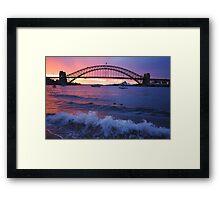 Morning Wake - Sydney Harbour, Sydney Australia Framed Print