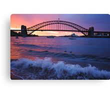Morning Wake - Sydney Harbour, Sydney Australia Canvas Print