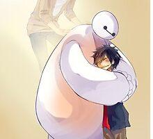 Big Hero 6 Baymax Hugging Hiro With Tadashi by sovietsnowflake