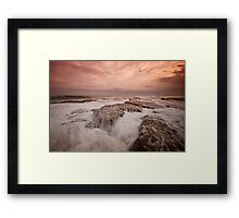 Bar Beach Rock Platform 11 Framed Print