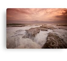 Bar Beach Rock Platform 11 Canvas Print