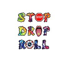 Stop, drop and roll Rainbow Photographic Print