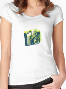 Andy Love Holga Too !!! Women's Fitted Scoop T-Shirt