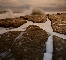 Bar Beach Rock Platform 12 by Mark Snelson
