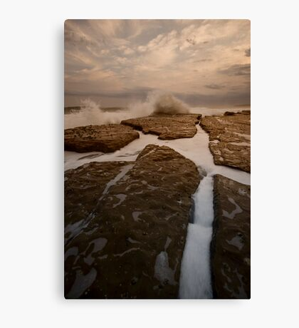 Bar Beach Rock Platform 12 Canvas Print