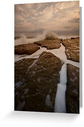 Bar Beach Rock Platform 12 by Mark Snelson