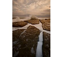 Bar Beach Rock Platform 12 Photographic Print