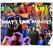 Heather's Collage -What's your damage? Poster