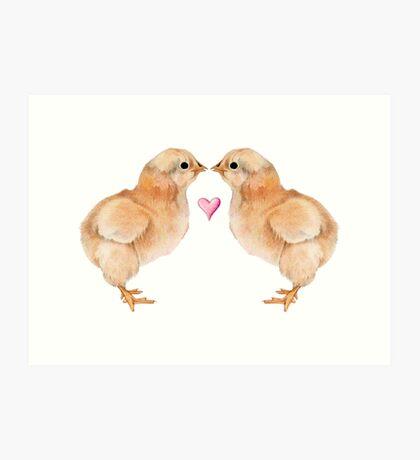 Baby Chick Love Art Print