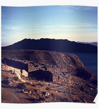Chinkana Archeological Site on Isla del Sol in Bolivia Poster