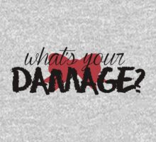 What's Your Damage? (Red Bow) Kids Clothes
