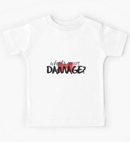 What's Your Damage? (Red Bow) Kids Tee