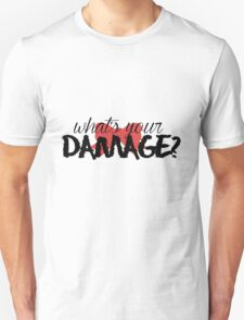 What's Your Damage? (Red Bow) T-Shirt