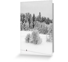 Walking through the snow Greeting Card