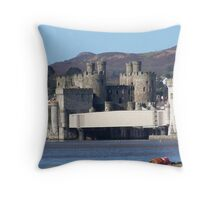 Conwy castle. North Wales. Throw Pillow