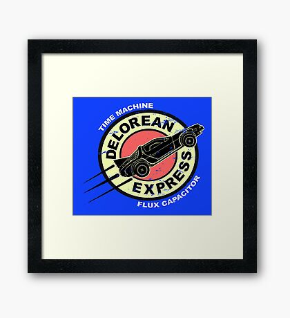 Delorean Express Framed Print