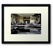 Movie Theatre Framed Print
