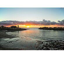Portpatrick A Winter Sunset Photographic Print