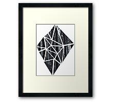 Black Diamond Idea Framed Print
