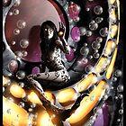 Robot Mermaid Painting 001 by Ian Sokoliwski